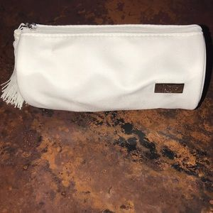 "Dior Beauty cosmetic bag - 6""x3"" white with tassel"